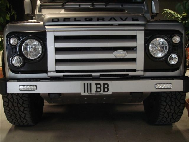 Land Rover Defender front bumper available with LED ...