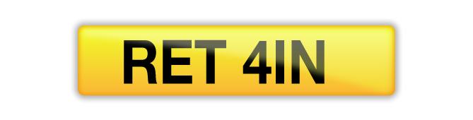 RET 41N number plate available